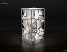 printing / Voronoi lamp by Markellov - Thingiverse Maybe something for Printer Chat? 3d Printing Diy, 3d Printing Service, Impression 3d, Lampe 3d, Etagere Design, 3d Printed Objects, 3d Printer Designs, 3d Printable Models, Modelos 3d