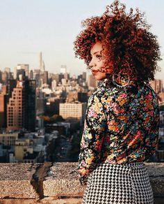 Mix prints and gorgeous curls  @ownbyfemme   #beautiffulcurls #naturalhair #teamnatural http://ift.tt/1OTultM