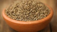 Special Collection of Indian art and craft. Ajwain - Carom Seeds - Trachyspermum ammi - Premium aromatic delicious spice - Natural Organic - No additives - For Health and Beauty Ayurveda, Yogurt, Crockpot, Water Benefits, Health Benefits, Health Tips, Usda Food, Reduce Belly Fat, Natural Healing