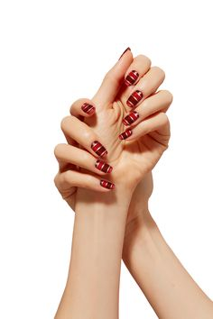 Holiday nail art last minute touch up using insta dri nail polish find this pin and more on holiday looks sally hansen canada holiday nail art prinsesfo Image collections