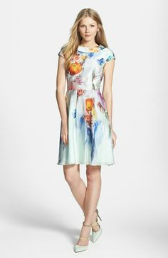 Ted Baker London 'Sugar Sweet' Floral Print Dress available at #Nordstrom