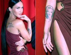 Megan Fox - Marilyn Monroe tattoo