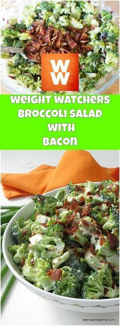 weight watchers broccoli salad with bacon - weight watchers cooking Weight Watchers Salad, Weight Watchers Smart Points, Weight Watcher Dinners, Weight Watchers Free, Weight Watchers Desserts, Ww Desserts, Skinny Broccoli Salad, Broccoli Salad Bacon, Skinny Recipes