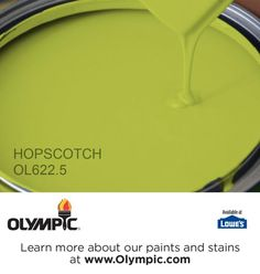 HOPSCOTCH OL622.5 is a part of the greens collection by Olympic® Paint.
