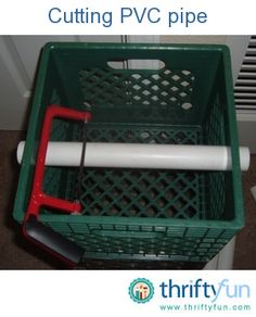 A Unique Method for cutting PVC Pipe