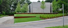 Design Identified - Andrea Cochran, Thinking Outside the Boxwood, photo by Nick McCullough. Modern Midwest garden featuring Corten walls and a modern planting scheme