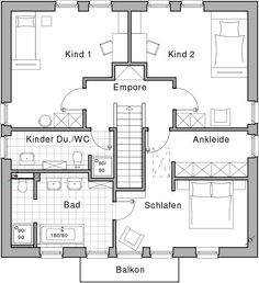 Grundriss einfamilienhaus modern obergeschoss  Häuser- Beeindruckende Linienführung: Bauhaus Linea | Häusl ...
