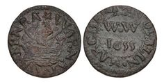 Dated Williamson 412 Copper Penny, Letter V, Dublin, Irish, Coins, Coining, Irish People, Irish Language, Ireland