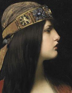a-little-bit-pre-raphaelite: detail Judith 1892 Jules Joseph. Renaissance Kunst, Classic Paintings, Pre Raphaelite, Classical Art, Old Art, Portrait Art, Traditional Art, Art Boards, Art History