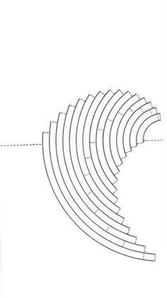 wave and sail scheme kirigami Kirigami Patterns, Kirigami Templates, Pop Up Card Templates, Origami And Kirigami, Origami Paper, Kirigami Tutorial, 3d Paper Crafts, Paper Art, Foam Crafts