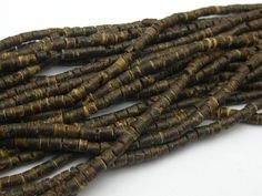 """Cheap bead ball, Buy Quality bead strands wholesale directly from China beaded chain mail jewelry Suppliers:15 Strands of 22"""" Natural Dark Coconut Heishi Beads 3mmQTY for this listing: 15 Strands, each strand si"""