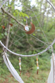 Avalon Dreamcatcher & Positive Emanation Creation by ElvenWay- new photos/perspectives in the forest :) wind blessings and green vibes***