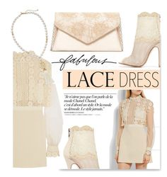 """""""Lace Dress"""" by serepunky ❤ liked on Polyvore featuring Chanel, self-portrait, Stella & Dot, Chinese Laundry, Jessica McClintock, Chico's, vintage and lacedress"""
