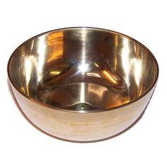Brass Sing Bowl - Large - Approx 17cm   BidderFace