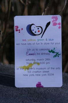 i adore this art themed birthday party!  asked to make this for my niece...so many cute party ideas for this theme.
