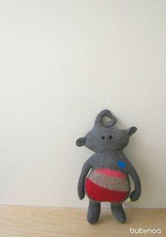 Critter Doll  Eli Yen Sci fi Fantasy Merino wool by bubyNoa, $40.00