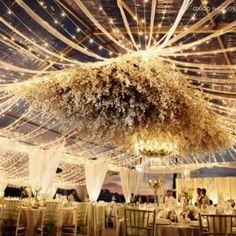 20 ideas for hanging wedding decor.
