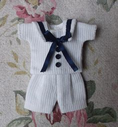 Awesome Sailor outfit for mignonette or tiny antique doll
