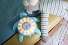 The 'Tick Tock Turtle' kids alarm clock has been created with kids in mind to ensure they can learn to tell time and get into a healthy routine as they mature. Featuring a charming turtle-inspired aesthetic, it has a series of lights that help kids to learn how to tell time & act as a night light. It has a built-in sensor that will monitor their motion so they wake at the optimal point in their sleep cycle to deter the chance of grogginess.