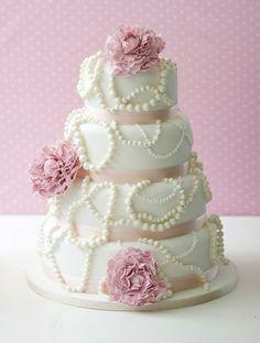 Wedding Flowers & Inspiration: Perfect Peonies wedding cake