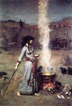 John William Waterhouse, The Magic Circle on ArtStack #john-william-waterhouse #art