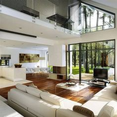 Tips and luxury features of modern home interior and exterior design Dream Home Design, Modern House Design, Home Interior Design, Exterior Design, Interior Modern, Interior Ideas, Glass House Design, Rustic Exterior, House Rooms
