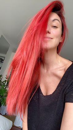 Red haired Little Mermaid like hair ❤️ Ariel Hair, The Little Mermaid, Dyed Hair, Long Hair Styles, Lady, Instagram, Beauty, Color, Long Hairstyle