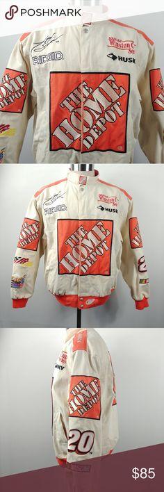 Jeff Hamilton NASCAR Racing Home Depot Mens Jacket Vintage Jeff Hamilton  Racing Collection Home Depot Mens 4640905ca
