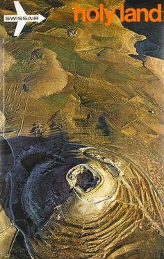 Swissair, Holy Land, King Herold's tomb, near Bethlehem, Israël #vintageaviation #bia