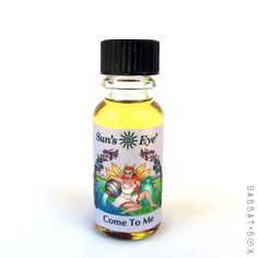 Come To Me ritual oil by Sun's Eye is a blend infused with rose petals that encourages passion and attracts romantic attentions. This high quality oil can be used for anointing, burned in a diffuser o