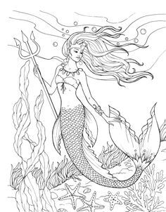 Mermaid Coloring Pages Mermaid Coloring Pages. Here is Mermaid Coloring Pages for you. Mermaid Coloring Pages coloring pages printable hello kitty mermaid coloring. Coloring Pages For Grown Ups, Free Coloring Sheets, Adult Coloring Book Pages, Printable Coloring Pages, Cute Mermaid, Mermaid Art, Mermaid Mermaid, Mermaid Coloring Book, Creative Haven Coloring Books