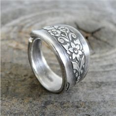 Spoon Ring, Antique Silverware Jewelry