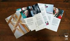 Loose leaf brochure design for Knitting For All #urbanreiver #knittingforall #brochure #graphicdesign #photography