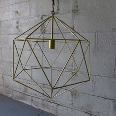Mid Century Modern styled Large Cage CHANDELIER pendant LAMP