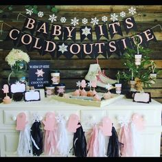 "21 Likes, 1 Comments - Maggie Ward (@blue_oak_creations) on Instagram: ""Our new winter baby shower theme is out! Baby it's cold outside! Colors can be changed to fit your…"""