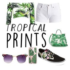 """Tropical prints"" by sierra74 on Polyvore featuring Barbour International, Dolce&Gabbana, Vans, Casetify and Sunny Rebel"