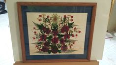 Real Pressed Flowers in Holiday Colors on 11 x by FlowerFelicity, $48.00