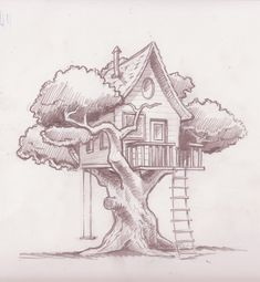 tree house drawing - Recherche Google