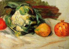 Pierre Auguste Renoir - Cauliflower and Pomegranates