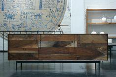 BDDW credenza  reclaimed wood