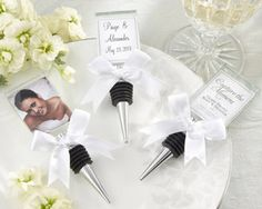wine stopper favor/save the date