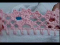 Easiest Crochet Frills Border Ever! Crochet Lace Edging, Crochet Borders, Crochet Doilies, Crochet Stitches, Crochet Baby, Free Crochet, Knit Crochet, Crochet Patterns, Beginner Knitting Patterns