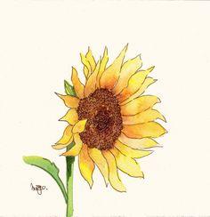 watercolor sunflower - Google Search