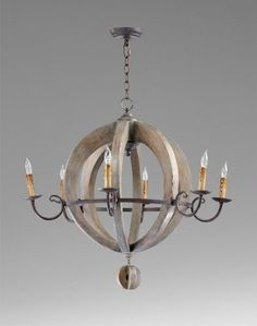 French Country Round Barrel Carved Wood Limed Oak 6 Light Chandelier by Kathy Kuo Designs,  29h x32w.  $1200. http://www.amazon.com/dp/B005UDSK90/ref=cm_sw_r_pi_dp_iVP4rb01T6Q1X
