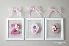 Yarn Letters Tutorial Baby Nursery