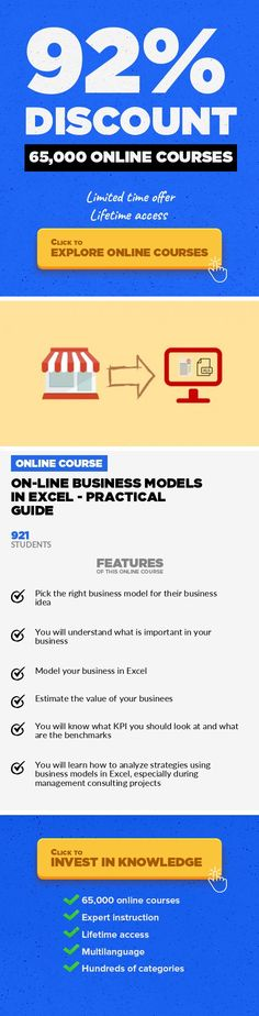 On-line Business Models in Excel - Practical Guide Entrepreneurship, Business #onlinecourses #EducationCourses #onlineeducationtips  Learn on-line business models (SaaS, marketplace, media site, e-commerce) and see how to build financial models in Excel Course summary Why we decided to create this course? We work with startups on daily basis within our accelerator StartupAkademia  and we have noti...