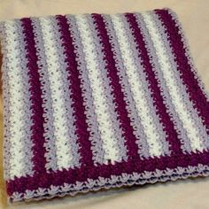 No Holes Baby Blanket This crochet pattern / tutorial is available for free... Full Post: 'No Holes' Baby Blanket