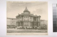 """Residence of Mr. David N. Walter, N. E. Cor. Sacramento St. and Van Ness Avenue, S. F., Artotype No. 13, with """"S. F. News Letter,"""" June 11th, 1887"""