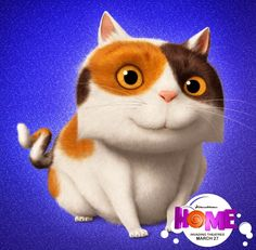 "Cats in Art, Illustration, Film and Animation: ""Pig"" from Dreamworks' ""Home,"" March Dreamworks Animation, Dreamworks Movies, Disney And Dreamworks, Disney Pixar, Animation Films, Crazy Cat Lady, Crazy Cats, Disney Home, Home"
