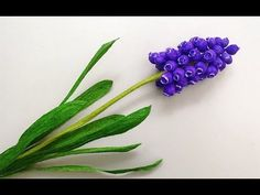 ABC TV | How To Make Grape Hyacinth Flower From Crepe Paper - Craft Tutorial - YouTube